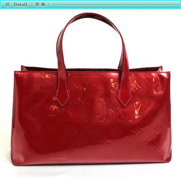 Louis Vuitton ルイヴィトン モノグラム・ヴェルニ ウィルシャー PM ハンドバッグ M93642 ポムダムール レディース ボルドー レッド _画像2