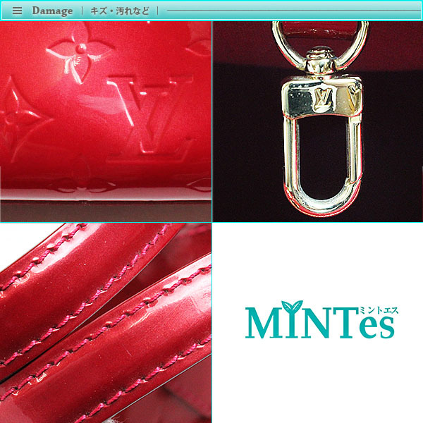 Louis Vuitton ルイヴィトン モノグラム・ヴェルニ ウィルシャー PM ハンドバッグ M93642 ポムダムール レディース ボルドー レッド _画像5