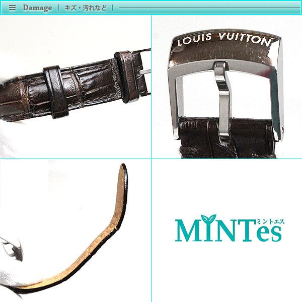 Louis Vuitton ルイヴィトン タンブール レディース腕時計 クォーツ Q1211 ブラウン文字盤×シルバー レディース アンティーク_画像6