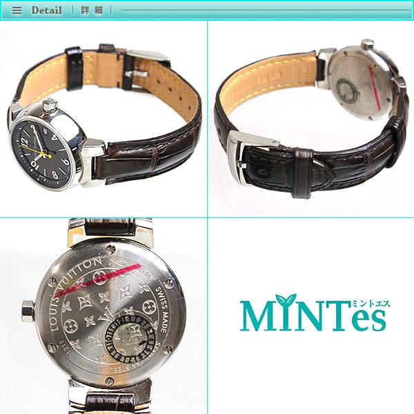 Louis Vuitton ルイヴィトン タンブール レディース腕時計 クォーツ Q1211 ブラウン文字盤×シルバー レディース アンティーク_画像3