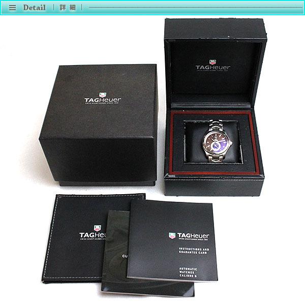 TAG Heuer タグホイヤー リンク キャリバー6 メンズ腕時計 オートマチック WJF211C 茶文字盤×シルバー メンズ スケルトン_画像4