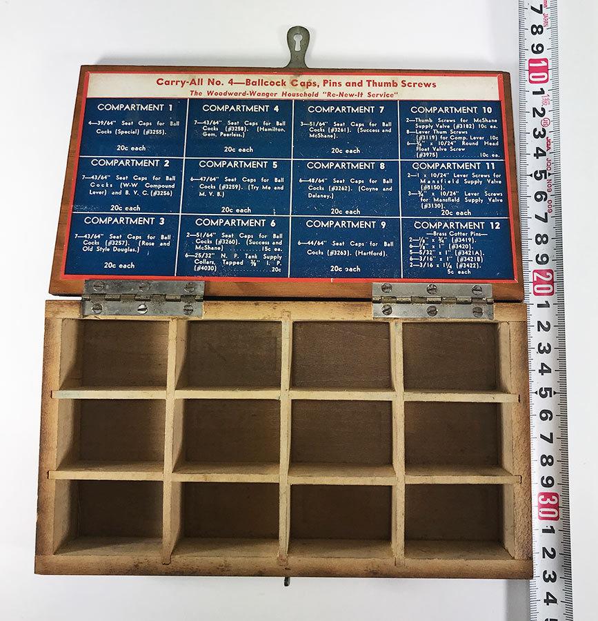 1930's アドバタイジング 木製 小物入れ/パーツ/ボックス/USA/収納/ハンガー/店舗什器/ハンガー/o.c.white/ランプ/照明/ハーレー/ボバー_画像5