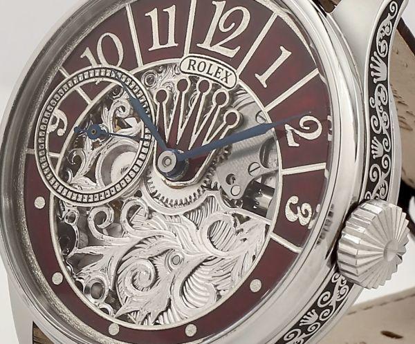 ◆ROLEX◆ 王者ロレックス 豪華彫金 1930's フルスケルトン 手巻き アンティーク スイス超高級腕時計 メンズ 腕時計 OH済 ビンテージ_画像7