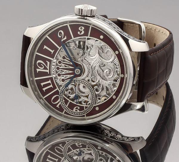 ◆ROLEX◆ 王者ロレックス 豪華彫金 1930's フルスケルトン 手巻き アンティーク スイス超高級腕時計 メンズ 腕時計 OH済 ビンテージ