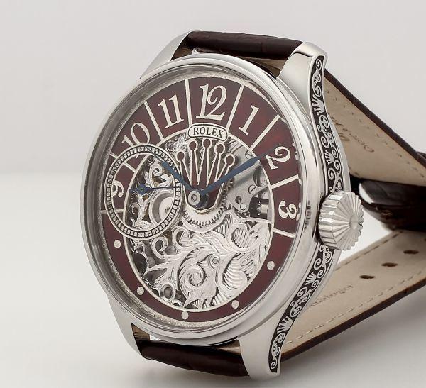 ◆ROLEX◆ 王者ロレックス 豪華彫金 1930's フルスケルトン 手巻き アンティーク スイス超高級腕時計 メンズ 腕時計 OH済 ビンテージ_画像2