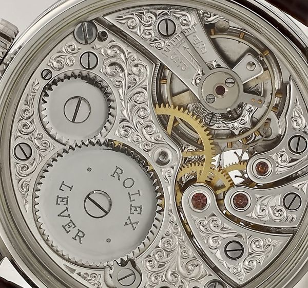 ◆ROLEX◆ 王者ロレックス 豪華彫金 1930's フルスケルトン 手巻き アンティーク スイス超高級腕時計 メンズ 腕時計 OH済 ビンテージ_画像5