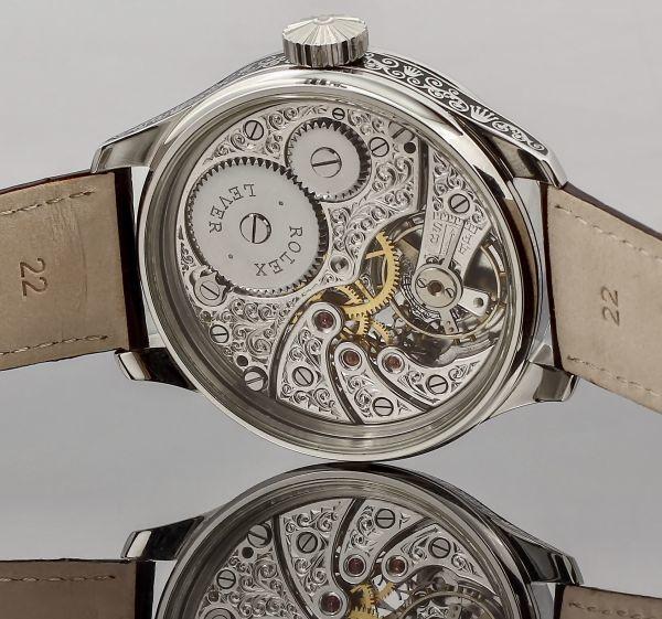 ◆ROLEX◆ 王者ロレックス 豪華彫金 1930's フルスケルトン 手巻き アンティーク スイス超高級腕時計 メンズ 腕時計 OH済 ビンテージ_画像4