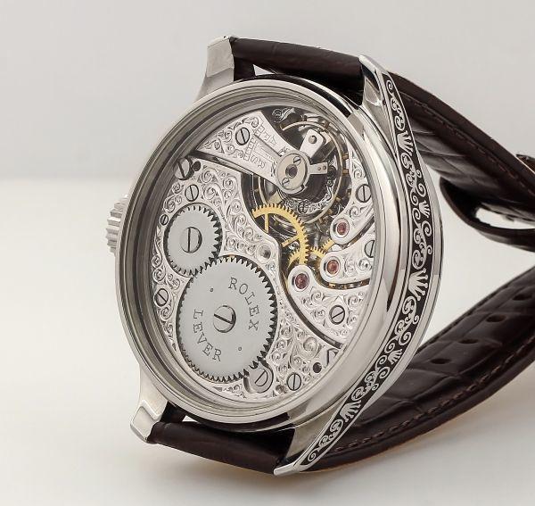 ◆ROLEX◆ 王者ロレックス 豪華彫金 1930's フルスケルトン 手巻き アンティーク スイス超高級腕時計 メンズ 腕時計 OH済 ビンテージ_画像6