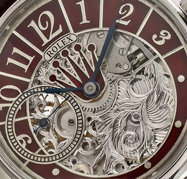◆ROLEX◆ 王者ロレックス 豪華彫金 1930's フルスケルトン 手巻き アンティーク スイス超高級腕時計 メンズ 腕時計 OH済 ビンテージ_画像3