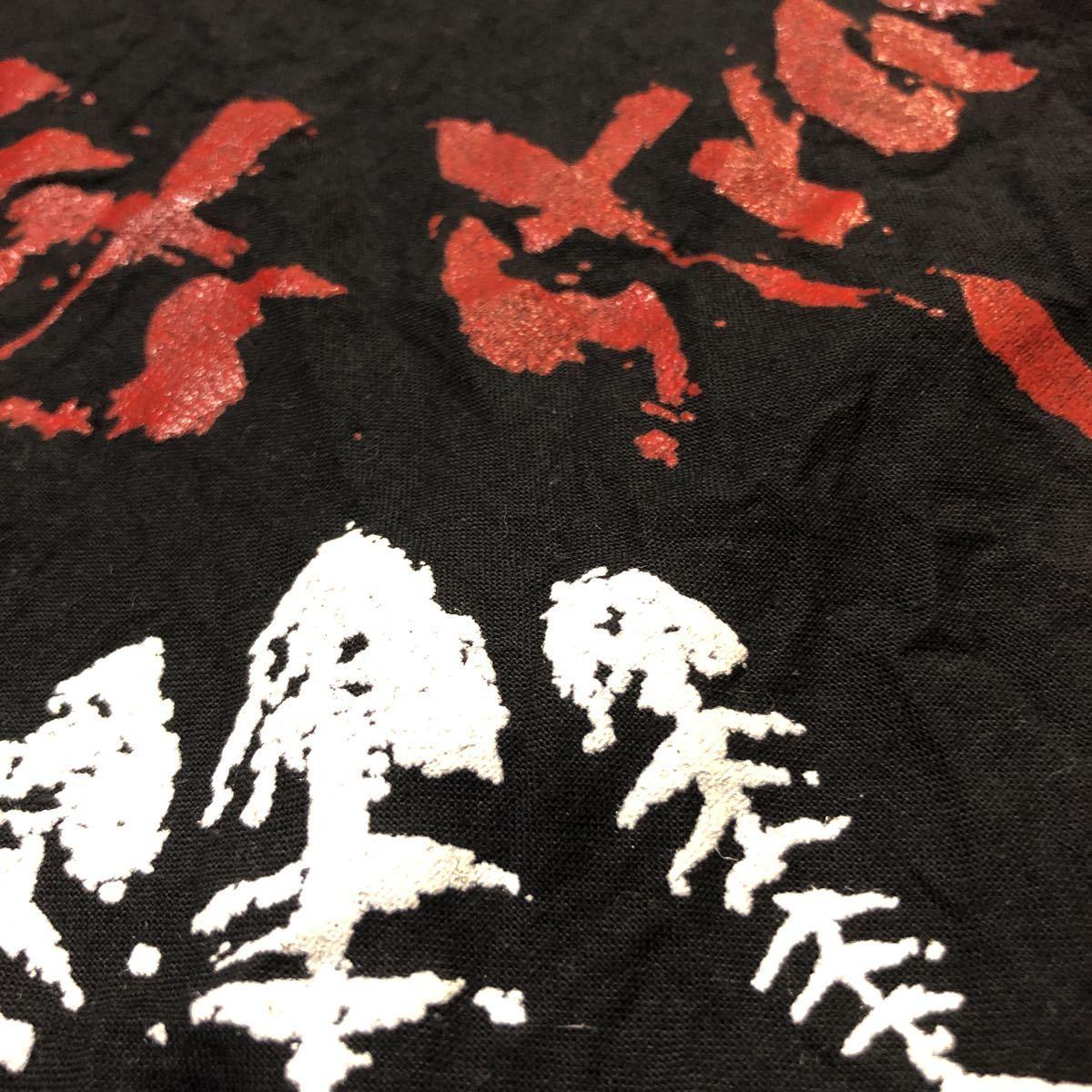 激レア 希少 ストレイキャッツ stray cats 92年 バンダナ choo choo HOT Fish チューチューホットフィッシュ ロカビリー バンド ツアー 黒_画像5