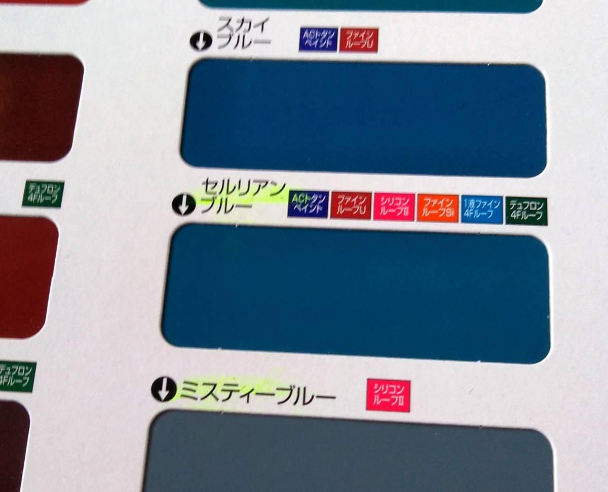 1液シリコン 屋根用塗料「ニッペシリコンルーフⅡ セルリアンブルー 14㎏」日本ペイント_画像3
