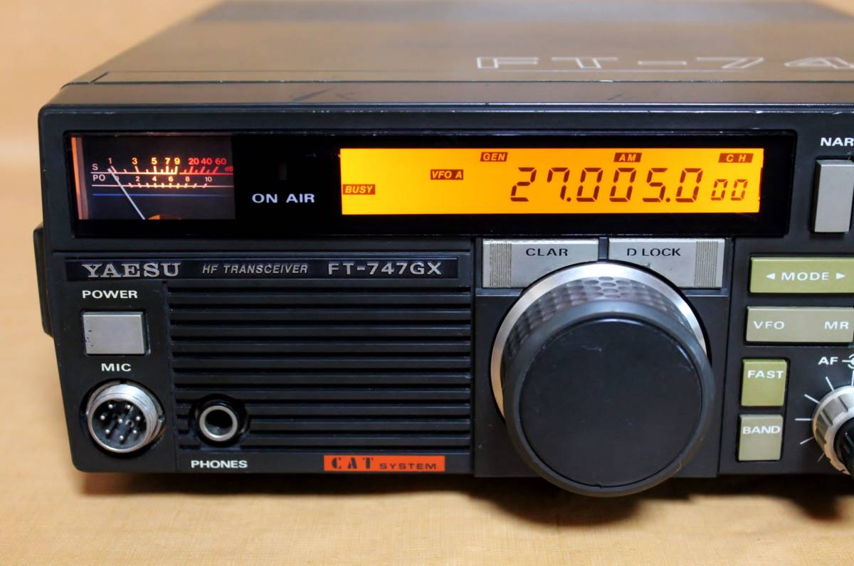 YAESU ヤエス FT-747 HF帯 AVG.120W ゼネカバ送信改造 1.5~29MHz  FMユニット CWフィルター内蔵 WARCバンド CB帯27MHz送信可
