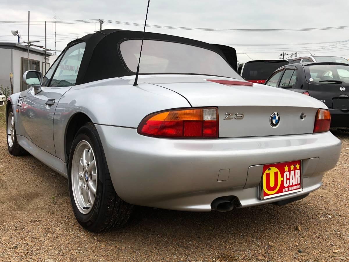 「BMW Z3 人気の2シーターオープン シルバー パワステ パワーウィンドウ 取説有り 純正AW 車検無 現状渡し 抹消済み」の画像2