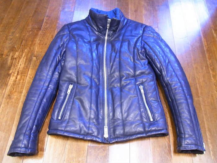 ●MURDER LICENSE マーダーライセンス 山羊革 中綿ブルゾン 44 レザージャケット ゴートスキン