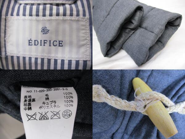EDIFICE エディフィス 中綿ショートダッフルコート サイズ44 グレー メンズ_画像3