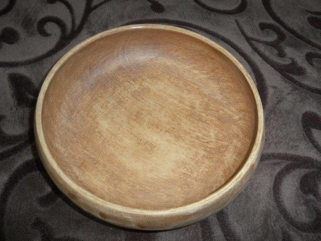 @@天然木 菓子鉢  アンティーク コレクション  工芸品  古民具 木工 古道具 良く使い込まれた菓子鉢 木の器 _画像2