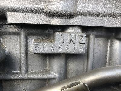 NHW20 プリウス エンジン 1NZ 走行距離16900km S 10th アニバーサリーエディション 純正_画像8