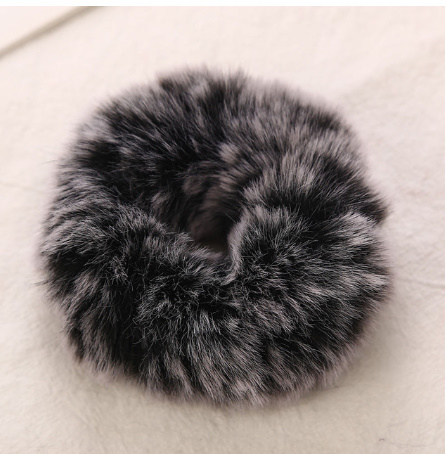 S2225 AIKELINA 新冬暖かいソフトフェイクラ女の子女性弾性ヘアロープヘアバンドヘアアクセサリー子供ゴムバンド帽子_画像7