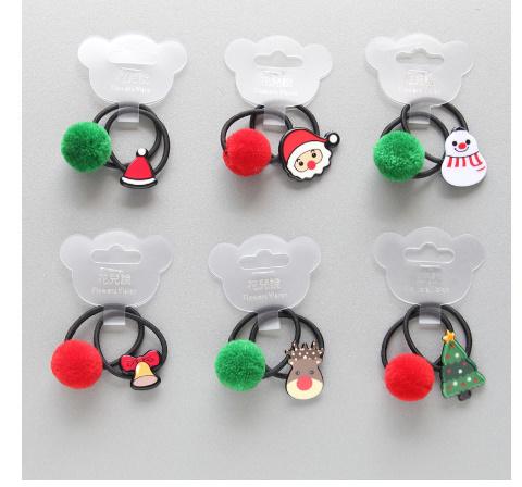 S2456 2 個新クリスマスヘラジカプリンセス帽子子供弾性ヘアバンドベビードレス子供ヘアロープの女の子ヘアアクセサリー_画像1