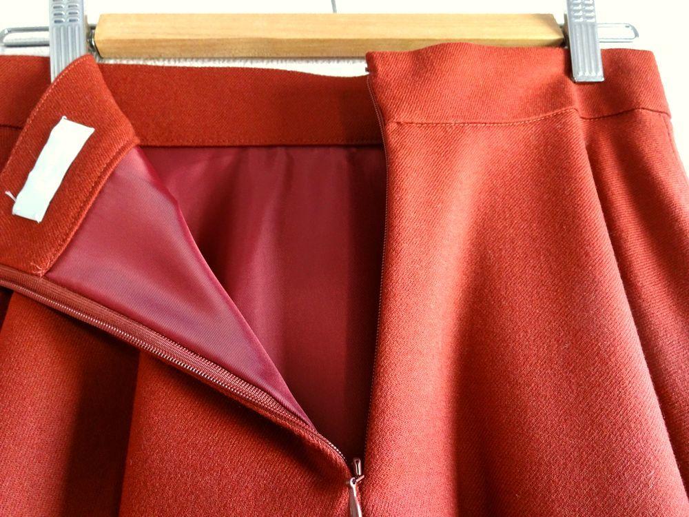 新品同様 ESTNATION エストネーション サーキュラースカート 38 ボルドー 雑誌掲載品_画像3