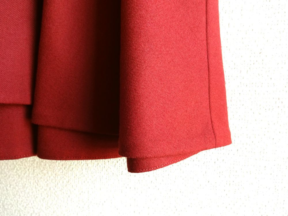 新品同様 ESTNATION エストネーション サーキュラースカート 38 ボルドー 雑誌掲載品_画像4