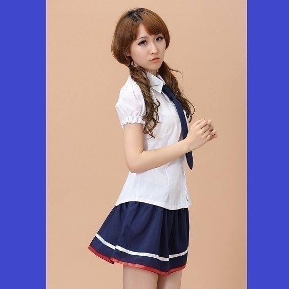 エロカワセクシー女子高生 制服 コスプレ N-2_画像3