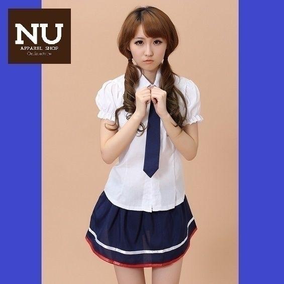 エロカワセクシー女子高生 制服 コスプレ N-2_画像1