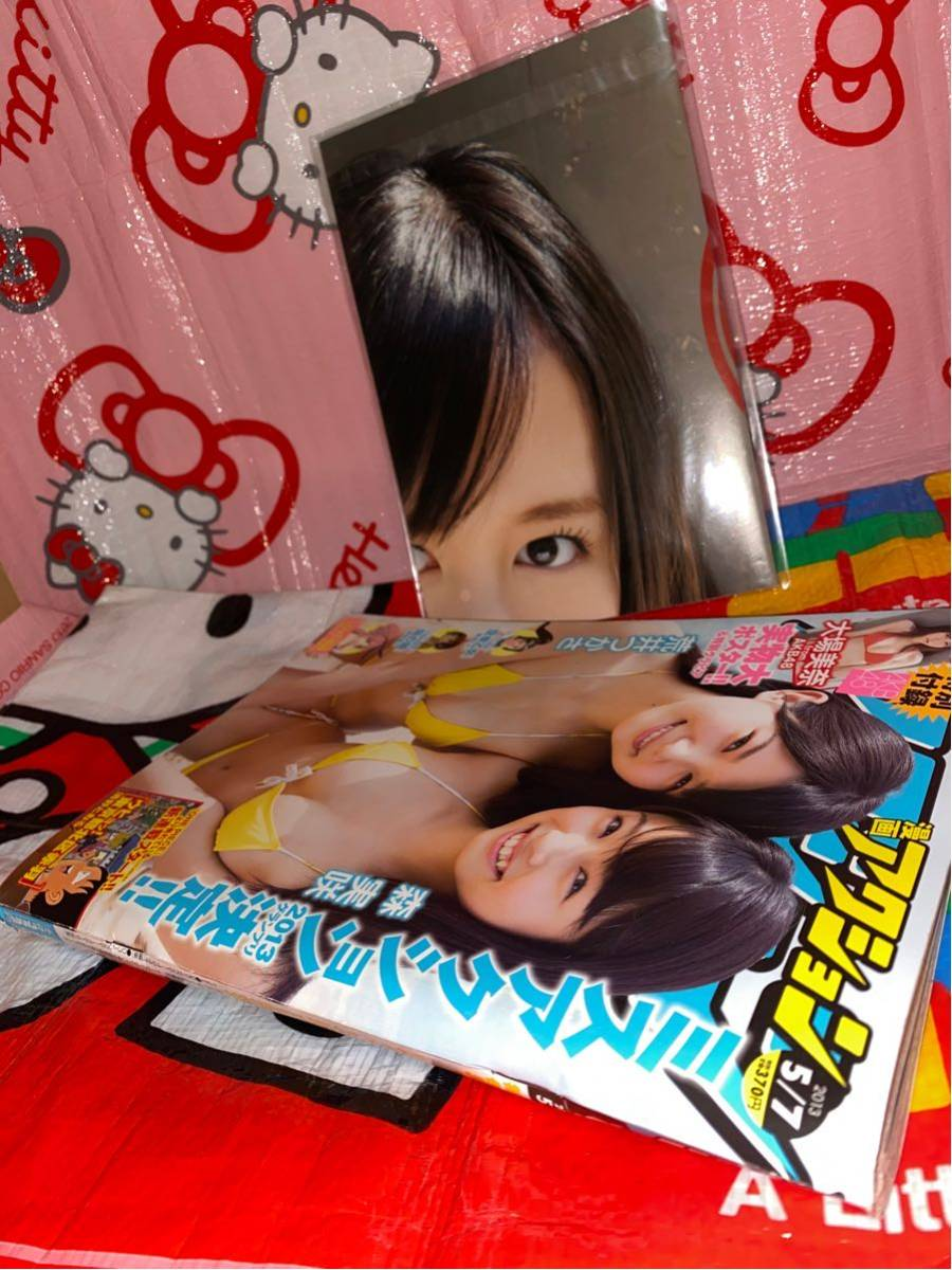 ☆漫画アクション 2013年No.9 ミスアクション 巻頭グラビア 森実咲 17歳 荒井つかさ 18歳 水着 特別付録 AKB48 大場美奈 実物大ポスター_画像10