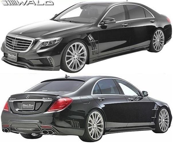 【M's】W222 ベンツ Sクラス 前期/後期 (2013y-) WALD BLACK BISON トランクスポイラー//FRP ヴァルド バルド エアロ ウイング_※前期車輌