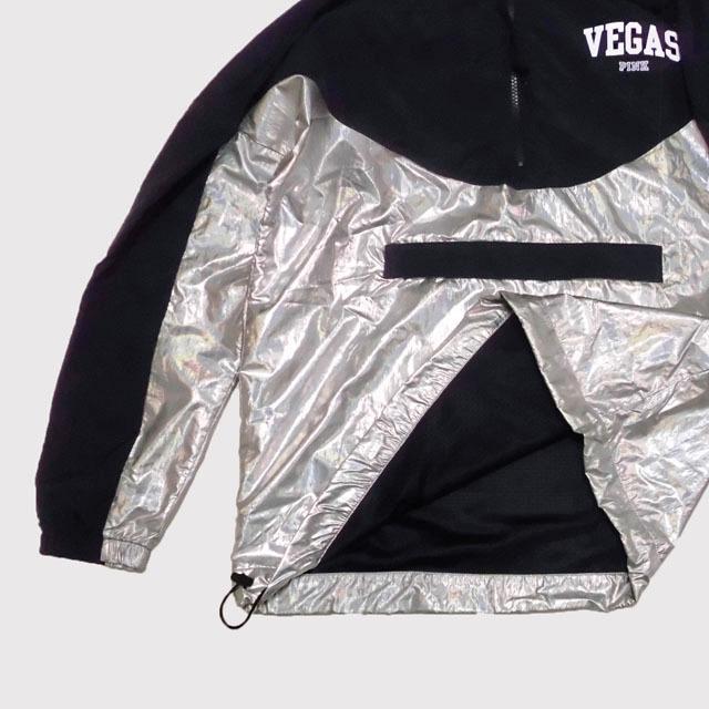 ★SALE★Victoria's Secret/Pink/ピンク★アノラックパーカー (Black/Silver/XS-S)_画像4