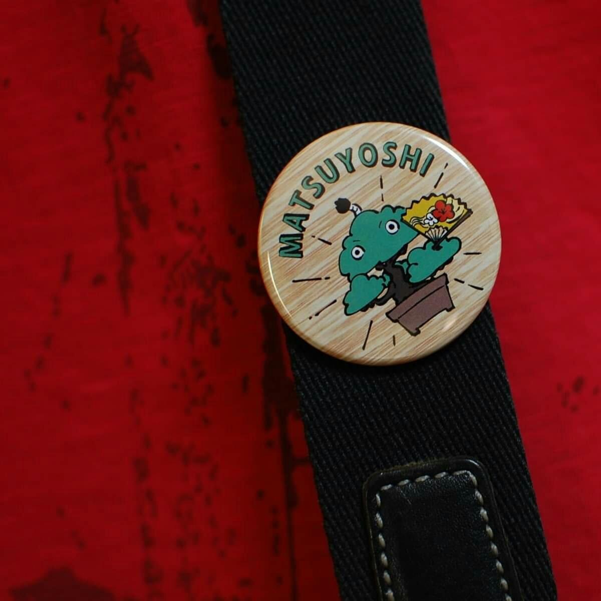 ミニ盆栽 黒松 小品盆栽「まっちゃん」缶バッジ 44mm 松慶盆栽園オリジナルキャラクターです。_画像3
