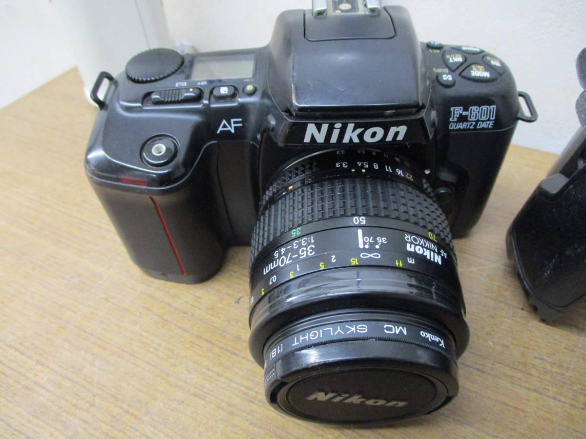 L485 現状品オートフォーカスフィルム一眼レフカメラ5台セット Canon EOSKiss MINOLTA α7700i Nikon F-601 PENTAX ist P30 11/18・28_画像4