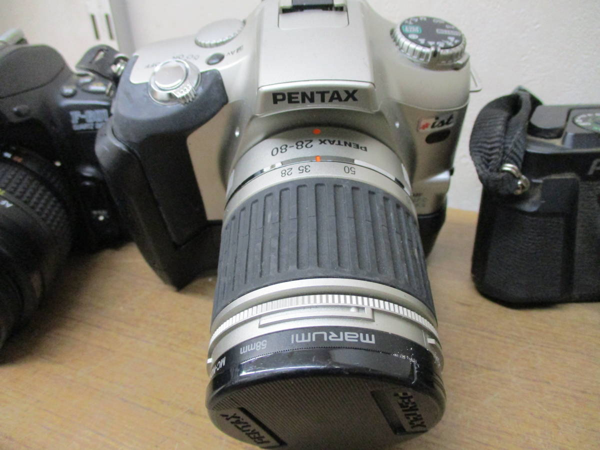 L485 現状品オートフォーカスフィルム一眼レフカメラ5台セット Canon EOSKiss MINOLTA α7700i Nikon F-601 PENTAX ist P30 11/18・28_画像5