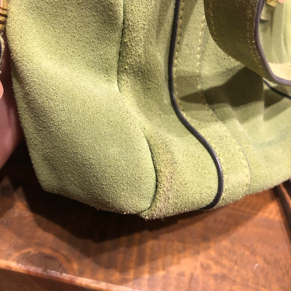 ショルダーバック 黄緑 hashibami