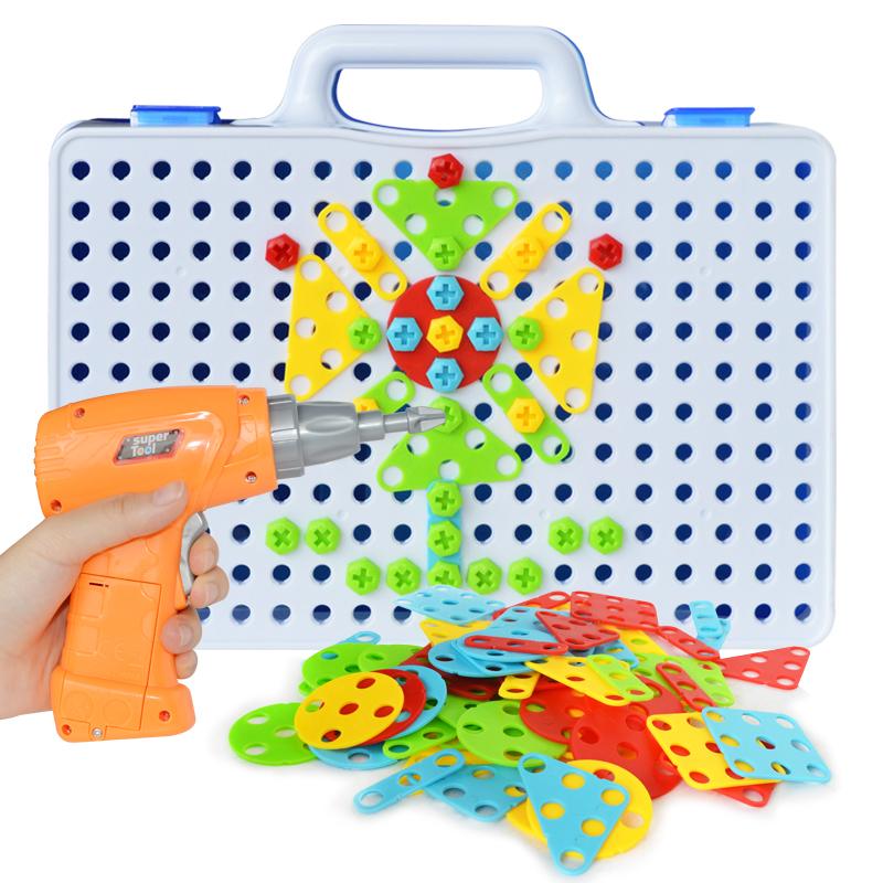 ★超売れ筋商品★電動ドリルナット組み立てキット♪子供 男の子 おもちゃ 人気 知育玩具 教育 工具 ブロック ギフト RU230_画像1