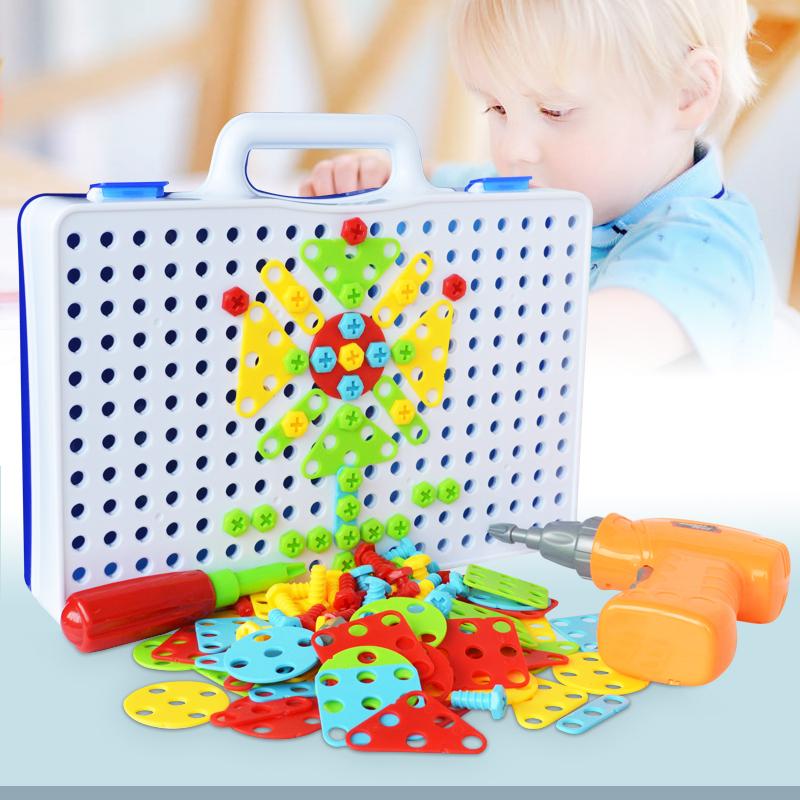 ★超売れ筋商品★電動ドリルナット組み立てキット♪子供 男の子 おもちゃ 人気 知育玩具 教育 工具 ブロック ギフト RU230_画像2