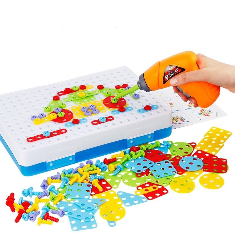 ★超売れ筋商品★電動ドリルナット組み立てキット♪子供 男の子 おもちゃ 人気 知育玩具 教育 工具 ブロック ギフト RU230_画像3