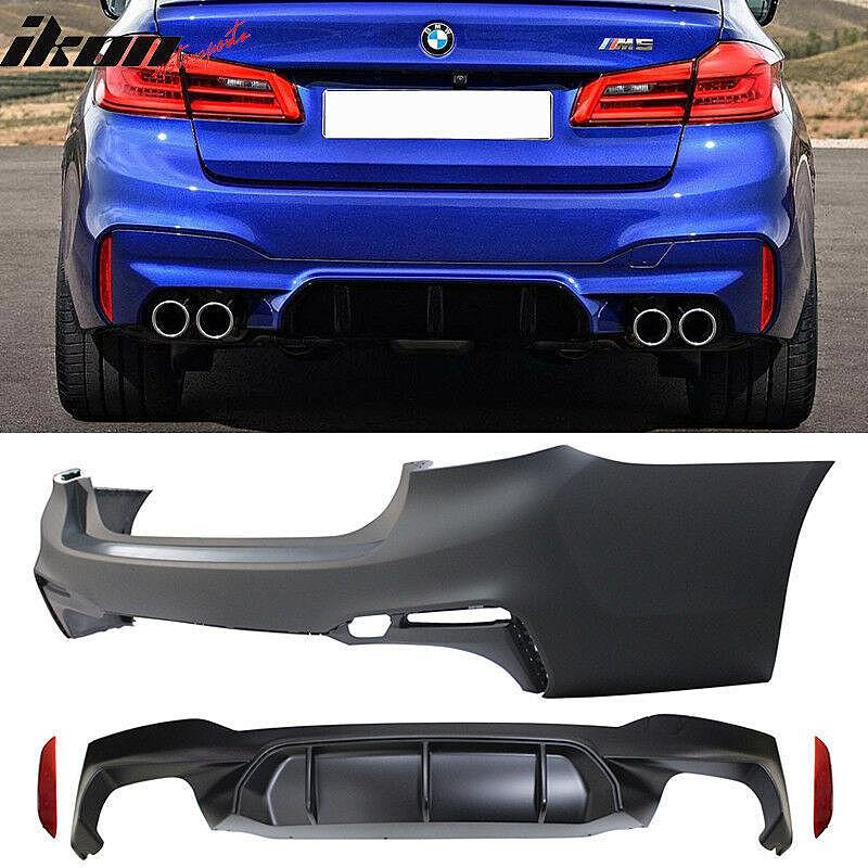 2017-18 BMW G30 5シリーズ セダン用 M5スタイル フロントバンパー、リアバンパー、ディフューザー、スポイラーリップ、サイドスカート_画像3