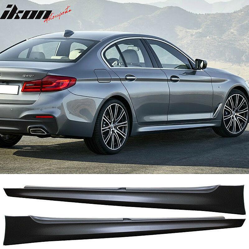 2017-18 BMW G30 5シリーズ セダン用 M5スタイル フロントバンパー、リアバンパー、ディフューザー、スポイラーリップ、サイドスカート_画像4