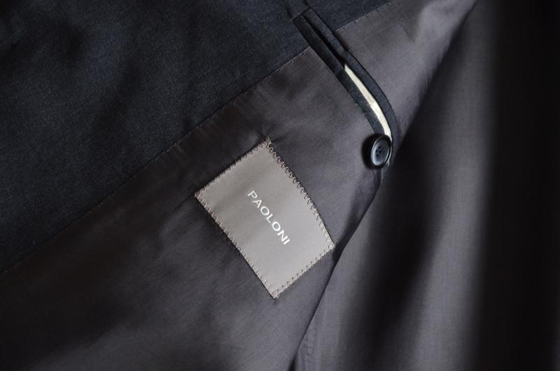 【新品】至極の上品感 秋冬 総裏地 PAOLONI パオローニ ビジネス フォーマル テーラード パンツ メンズ スーツ サイズ 48 2/2_画像4