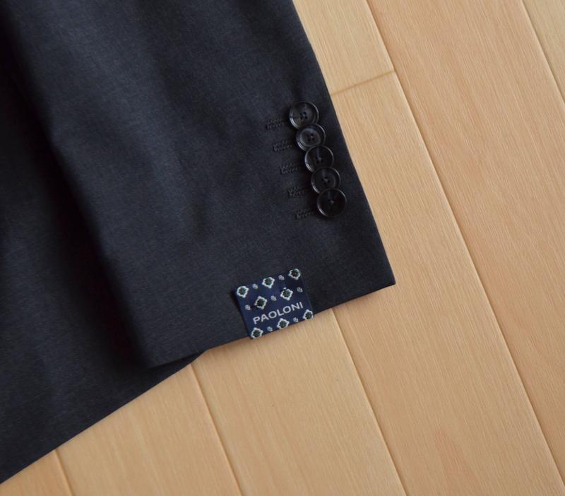 【新品】至極の上品感 秋冬 総裏地 PAOLONI パオローニ ビジネス フォーマル テーラード パンツ メンズ スーツ サイズ 48 2/2_画像5