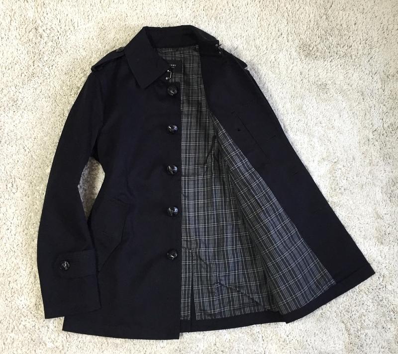 【極上】至極の上品感 ブラック銀ボタン BURBERRY BLACK LABEL バーバリーブラックレーベル ビジネス アウター メンズ コート サイズ M