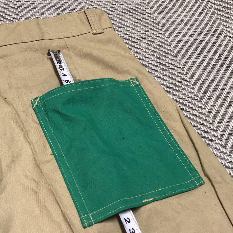 50s 50年代 CROWN クラウン ワークパンツ チノ ランチパンツ dead stock デッドストック VINTAGE ビンテージ 囚人 プリズナー_画像5
