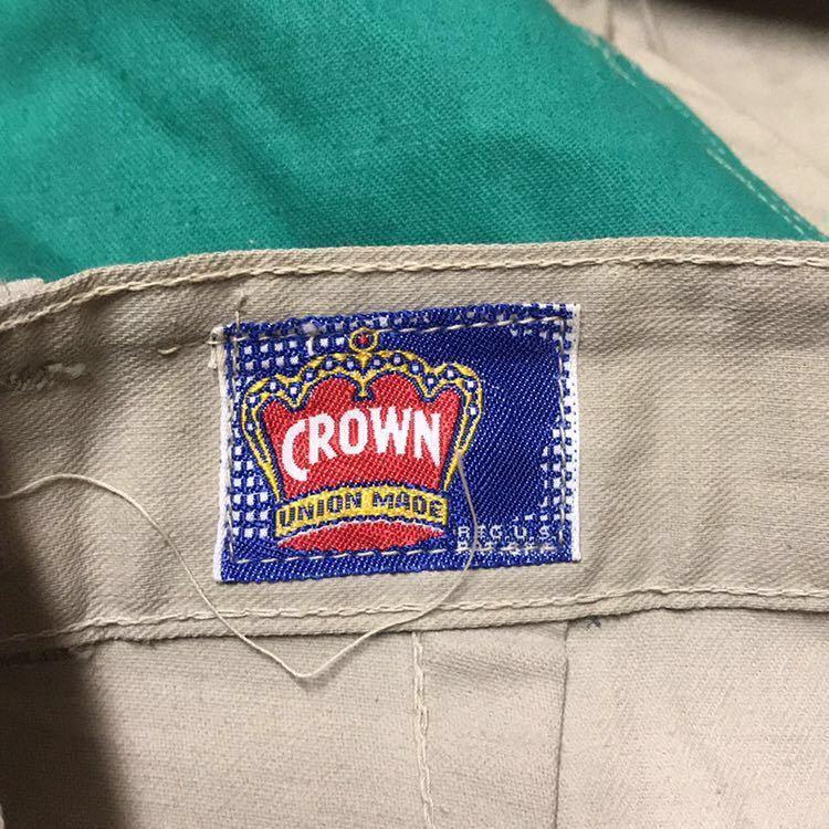 50s 50年代 CROWN クラウン ワークパンツ チノ ランチパンツ dead stock デッドストック VINTAGE ビンテージ 囚人 プリズナー_画像6
