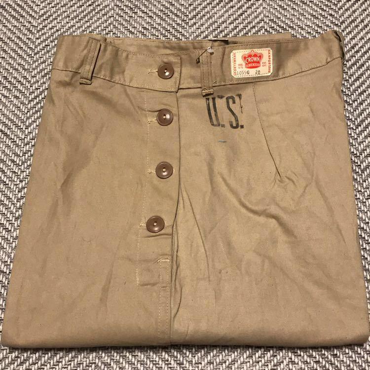 50s 50年代 CROWN クラウン ワークパンツ チノ ランチパンツ dead stock デッドストック VINTAGE ビンテージ 囚人 プリズナー_画像1