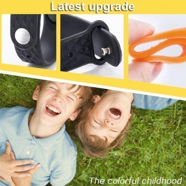 子供の腕時計 Led デジタルスポーツウォッチ少年少女メンズ ・ レディース ・ 電子シリコンブレスレット腕時計リロイニノ Orange White_画像3