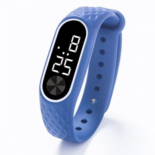 子供の腕時計 Led デジタルスポーツウォッチ少年少女メンズ ・ レディース ・ 電子シリコンブレスレット腕時計リロイニノ Blue White_画像1