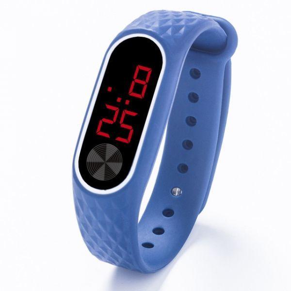 子供の腕時計 Led デジタルスポーツウォッチ少年少女メンズ ・ レディース ・ 電子シリコンブレスレット腕時計リロイニノ Blue Red_画像1