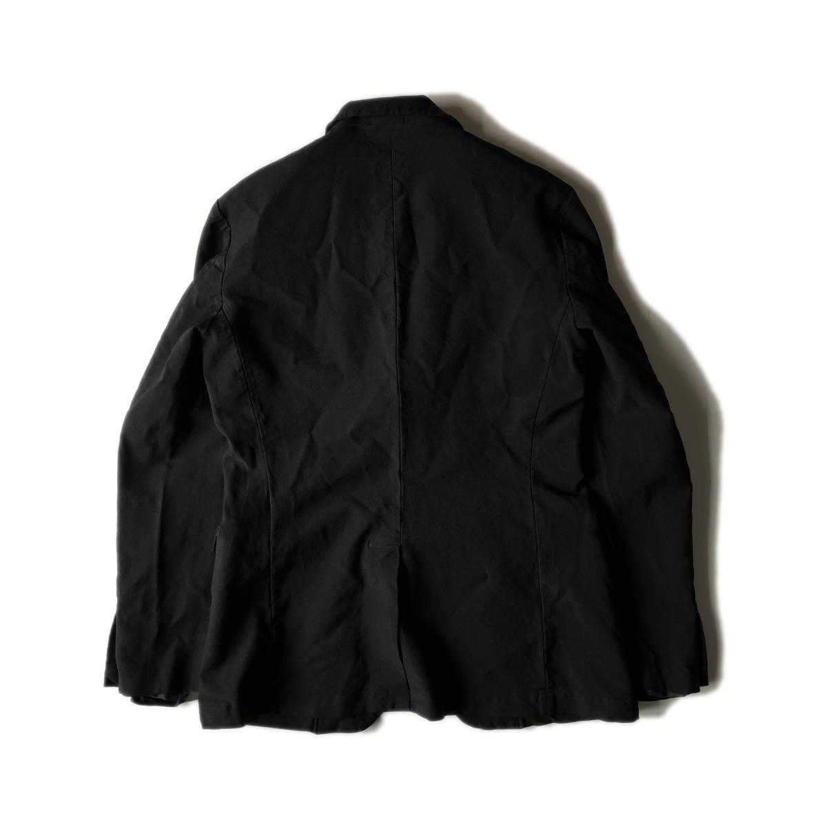 AD2009 BLACK COMME des GARCONS ブラックコムデギャルソン ポリ縮 ジャケット ブラック ポリエステル縮絨 黒 M ※セットアップPTも出品中_画像6
