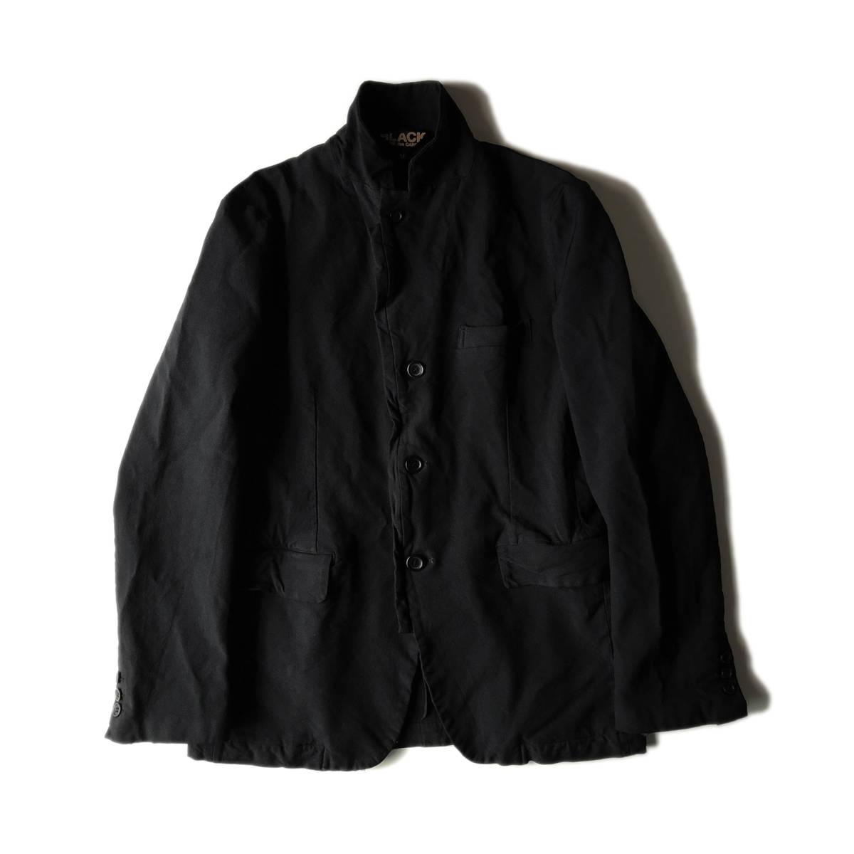 AD2009 BLACK COMME des GARCONS ブラックコムデギャルソン ポリ縮 ジャケット ブラック ポリエステル縮絨 黒 M ※セットアップPTも出品中_画像3